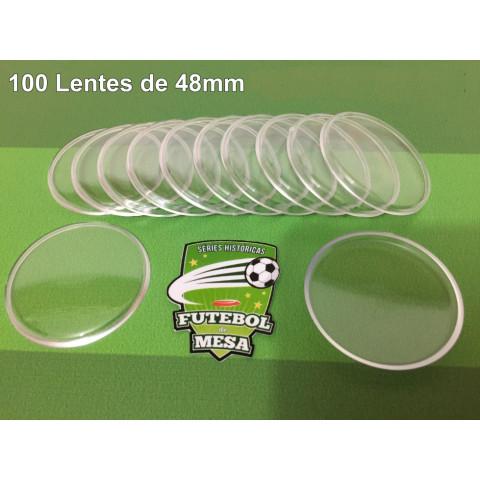 100 Lentes Transparentes (48 mm de diâmetro)
