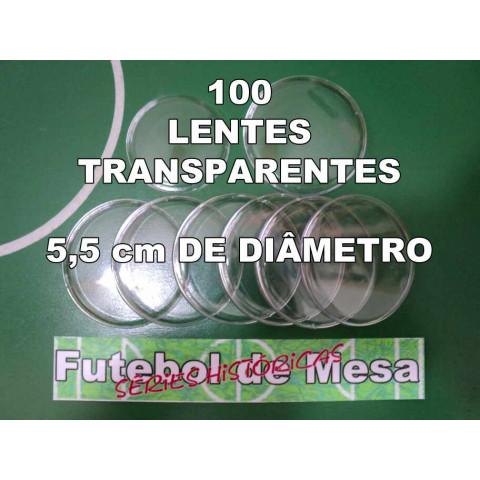 100 Lentes Transparentes (5,5 cm de diâmetro)
