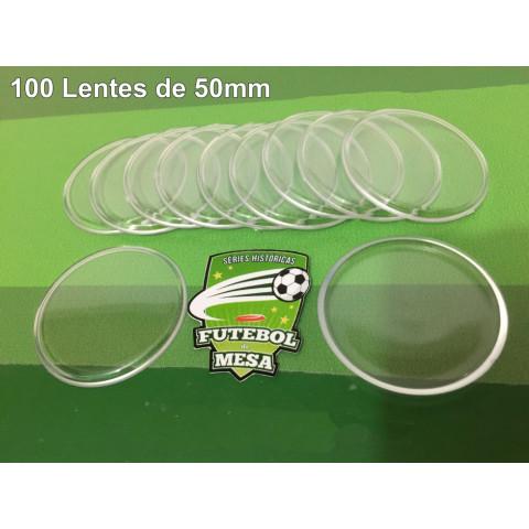 100 Lentes Transparentes (50 mm de diâmetro)