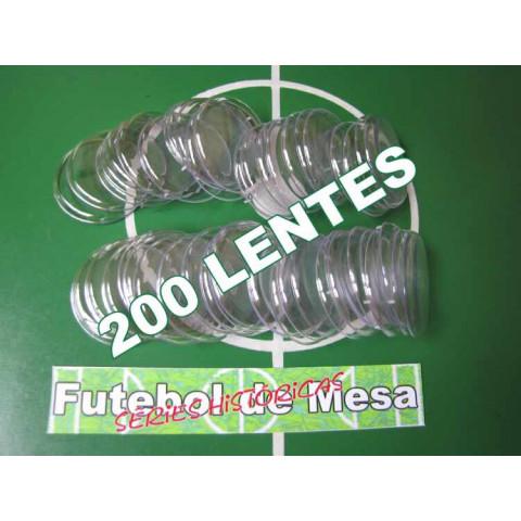 200 Lentes Transparentes (4,5 cm de diâmetro)