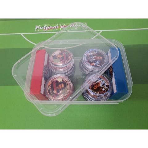 10 Caixinhas plásticas para Times de Botão (15cm X 10,5cm X 4cm)