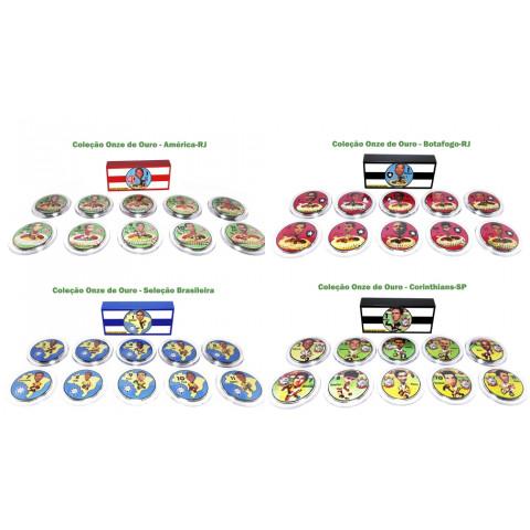 Time da Coleção 11 de ouro nos botões Jofer