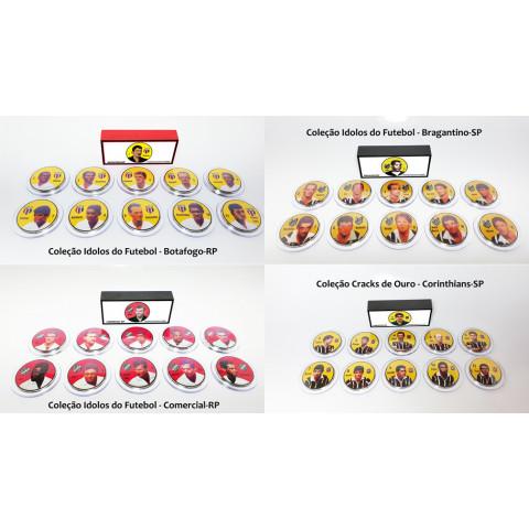 Coleção Idolos do Futebol nos botões Jofer