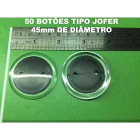 050 Botões tipo Jofer (4,5 cm de diâmetro)