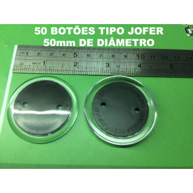 050 Botões tipo Jofer (5,0 cm de diâmetro)
