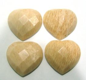 Amazonita Bege Coração 28 mm
