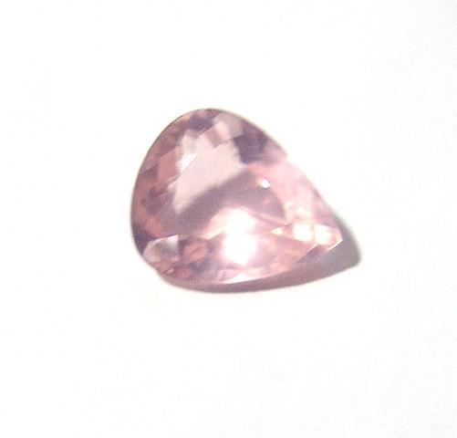 Quartzo Rosa - Gota Facetada 16.70x13.80 mm