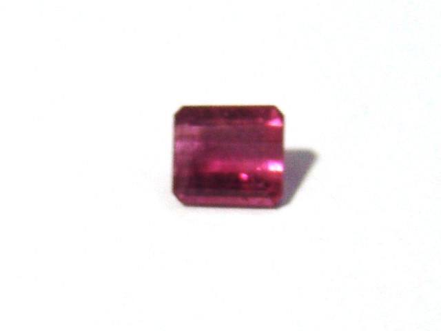 Turmalina Rosa  Retangular Facetada 7x6 mm