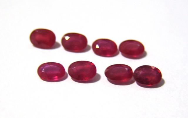 Rubi Facetado Oval 5 x 7 mm