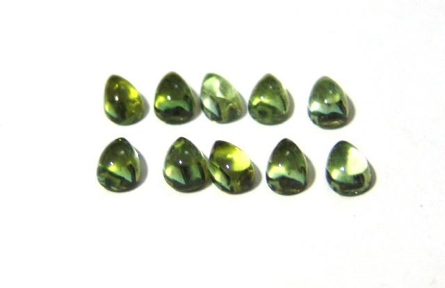 Turmalina Verde - Gota Cabochão 6x4 mm