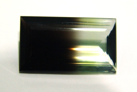 Green Gold Bicolor - Retangular Facetado 27x15.5mm