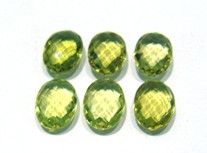 Green Gold Oval Briolet 14x10x6 mm