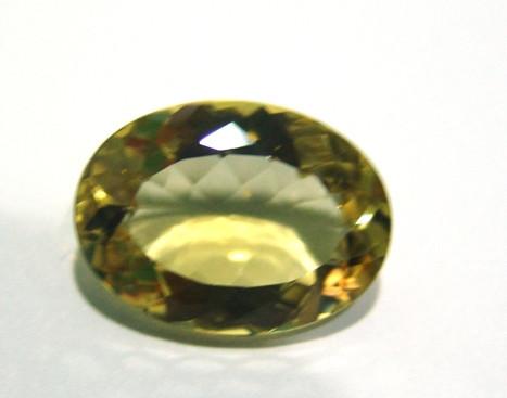 Green Gold - Oval Facetada 23x17 mm