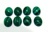 Malaquita Cabochão Oval  10x8 mm