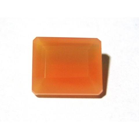 Cornalina - Retangular Facetado 14.7x12.3mm