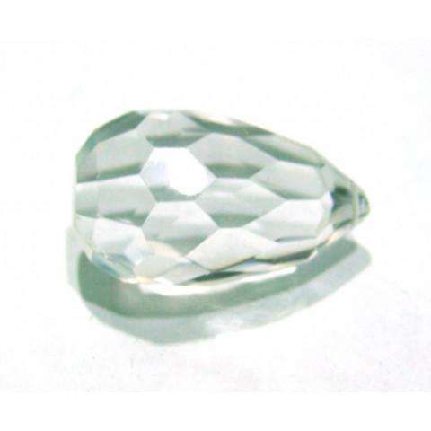 Cristal Gota Facetada, com Furo vasado 40x26 mm