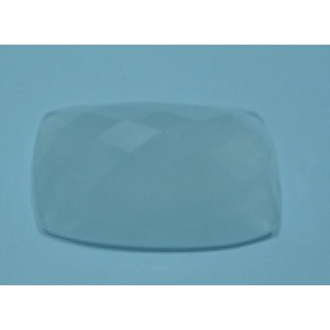 Cristal Leitoso Antique briolet 30x20  mm