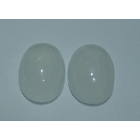 Cristal Leitoso Oval Cabochão 25x18 mm