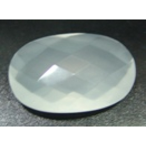 Cristal Leitoso Oval Facetada 30x20 mm
