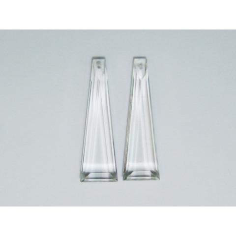 Cristal - Par Bastão Lapidação Especial 39x12mm com Furo Frontal