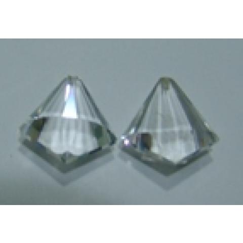Cristal - Par de Gotas Lapidação Especial Com Furo Frontal 21x18 mm
