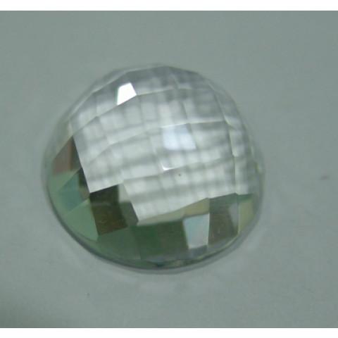 Cristal  Redondo Mesa Briolet Fundo Liso  20x20x10 mm