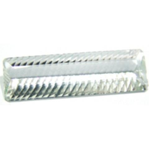 Cristal Retangular Lapidação Milleniun 39.50x12 mm