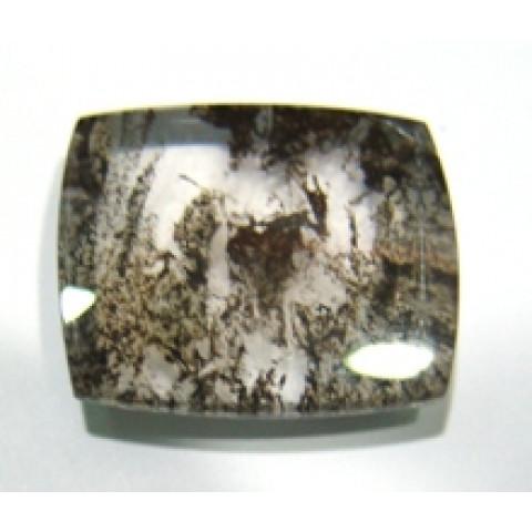 Dendrita Retangular Cabochão 28.50x24 mm