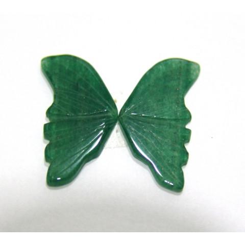 Borboleta de Quartzo Verde 29x33 mm