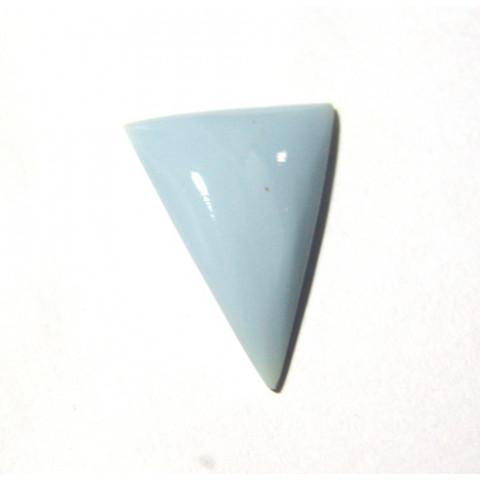 Opala Azul Triângulo Cabochão 30x22 mm