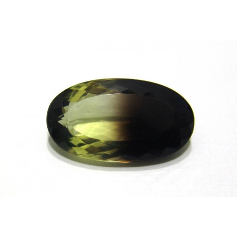 Green Gold Bicolor Oval Facetado 29.50x17 mm