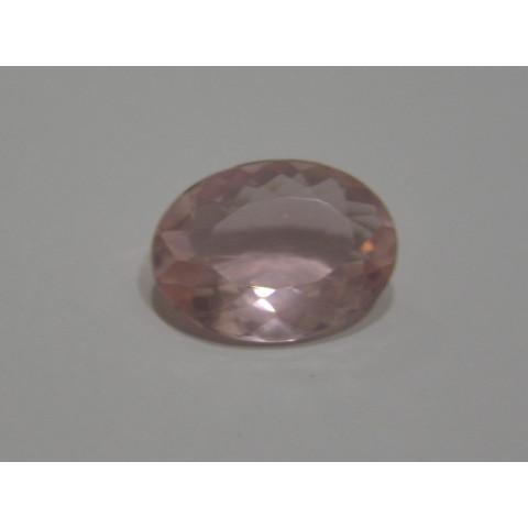 Quartzo Rosa Oval Facetada 19.50x14.50 mm