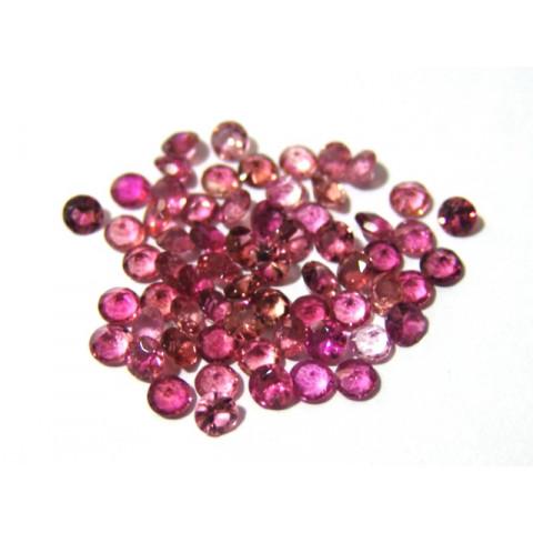 Turmalina Rosa - Redonda Facetada 5 mm