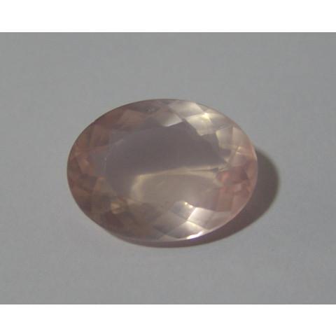 Quartzo Rosa - Oval Facetada 21x16 mm