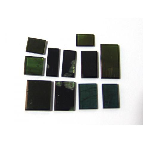 Lote de Turmalina Verde Placa Retangular Mix