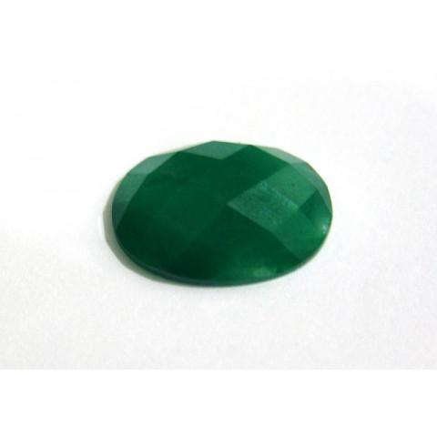 Quartzo verde - Oval 25x18 mm com fundo plano