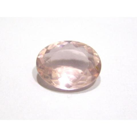 Quartzo Rosa Oval Facetada 20x15.50 mm