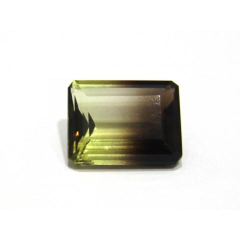 Green Gold Bicolor - Retangular Facetado 20x15 mm