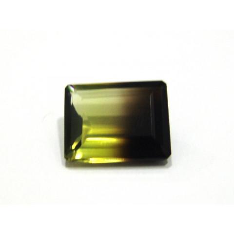 Green Gold Bicolor - Retangular Facetado 19x15 mm