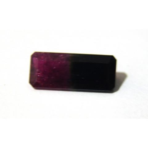 Turmalina Bicolor - Retangular Facetado 18x7.60 mm