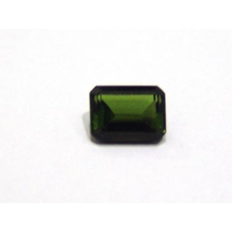 Turmalina Verde - Retangular Facetado 8x6 mm