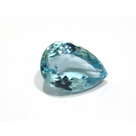 Topazio Azul Sky Blue Gota Facetado 26.50x18.50 mm