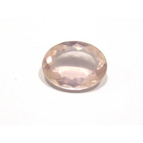Quartzo Rosa Oval Facetada 15x20 mm