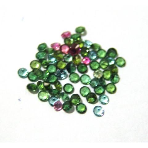Turmalina Cores Variadas - Redonda Facetada 3 mm