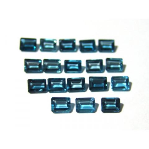 Topázio London Blue - Retangular Facetado 6x8 mm