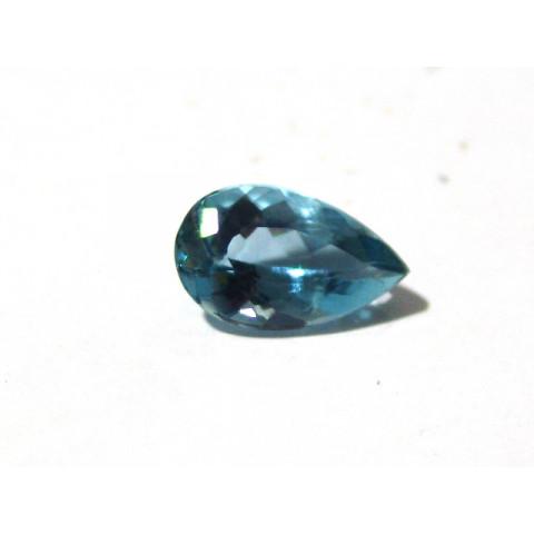 Topázio London Blue -Gota Facetado 15x9 mm