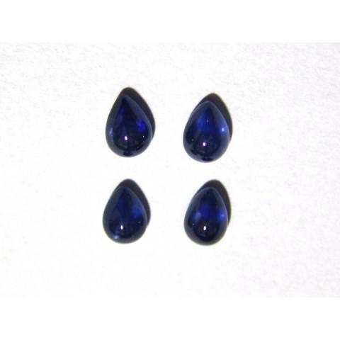 Safira Azul Gota Cabochão 7x5 mm