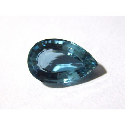 Topázio London Blue - Gota Facetado 22x14 mm