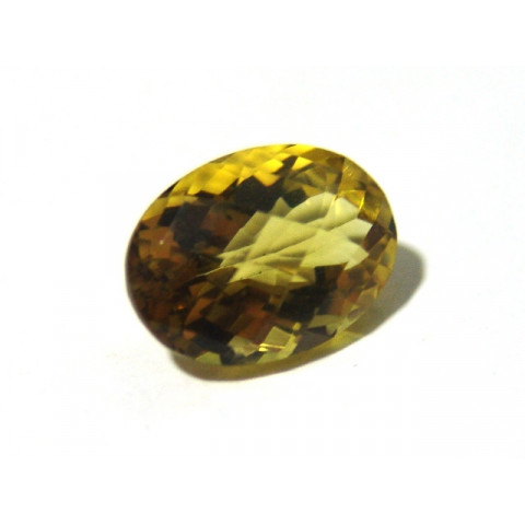 Green Gold Conhaque - Oval Facetado 18x13 mm
