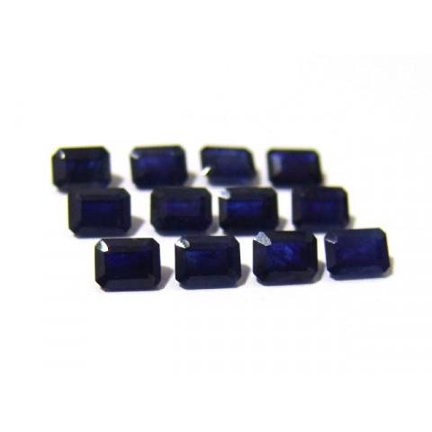 Safira Azul Retangular Facetada 5x7 mm